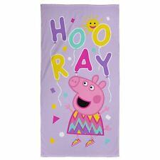 Peppa Pig 100% Cotton Ballons Plage / Serviette de Bain - Enfants