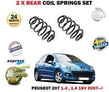 FOR PEUGEOT 207 1.4 + 16V WA WC HATCHBACK 2007--> NEW 2 x REAR COIL SPRING SET