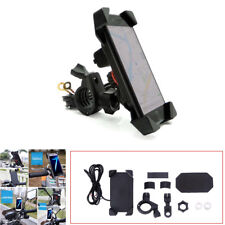 "Adjustable 7/8"" Motorcycle 360° USB Charger Phone Mount Holder With Accessories"