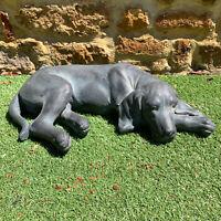 Outdoor Garden Statue Weimaraner Sculpture Large Resin Content Labrador Dog Art