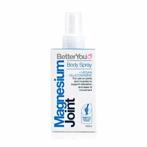 BetterYou Magnesium Joint Body Spray Vegan Glucosamine - 100ml Same Day Dispatch