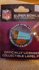 Super Bowl LII 52 NFL collector lapel pin Eagles Patriots MN US Bank Stadium