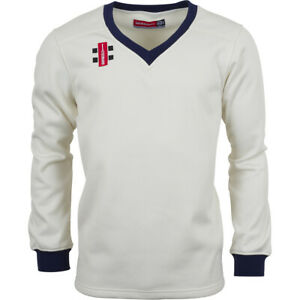 Clearance New Gray-Nicolls Cricket Velocity Sweater Navy Trim [Various Sizes]