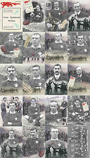 WALES 1905 (v NZ ALL BLACKS) RUGBY SET TEAM AND PLAYERS 20 QUALITY POSTCARDS