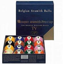 """ARAMITH SUPER PRO CUP 2 1/4"""" SPOTS & STRIPES AMERICAN POOL BALLS"""