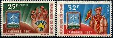 1967 TCHAD N°142/143** Scouts, Scoutisme Jamboree Mondial d'Idaho, MNH