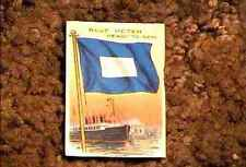 BLUE PETER READY TO SAIL FLAG RECRUIT TOBACCO CARD VERY FINE 1910