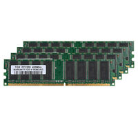 4GB Kit (4x 1GB) DDR1-400MHz PC Desktop Memory PC1-3200 184pin Non-ECC DIMM Ram
