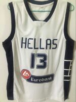 Hellas Giannis Antetokounmpo #13 Greece Throwback Basketball Jersey Stitched