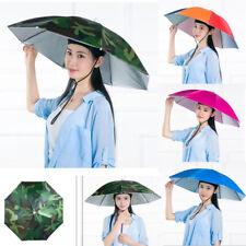 Sun Umbrella Hat Outdoor Hot Foldable Golf Fishing Camping Headwear Head Cap US