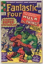 Fantastic Four #25 (1964) Very Good Minus (3.5) Hulk vs The Thing ~ Marvel