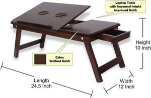 """Wooden Laptop Table Portable Laptop Table Best Quality Lappy Table 24"""""""