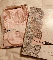 Vintage Shadowline Pajamas Size 34 100% Nylon Pajama Set Light Pink New In Box!