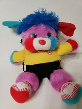 Vintage 1986 Mattel Popples Big Kicks Soccer Ball Plush Toy Stuffed flaw
