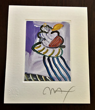 """PETER MAX """"Angel"""" Hand Signed Lithograph with 2001 Official Studio Seal."""