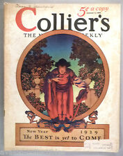 Collier's Magazine - January 5, 1929 ~~ Maxfield Parrish cover art