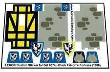 Replica Pre-Cut Sticker for Lego® set 6074 - Black Falcon's Fortress