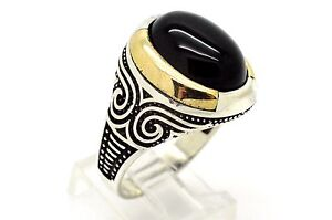 925 STERLING SILVER BLACK ONYX RING 11.5