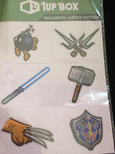 1Up Box Exclusives Justice Tattoos Thor Wolverine Raphael Link Etc.