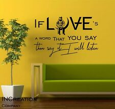 Angels and Airwaves Wall Decal Start the Machine Quote Vinyl Sticker Blink Love