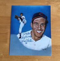 Bob Feller Cleveland Indians HOFer Signed Autograph 8x10 Photo #2