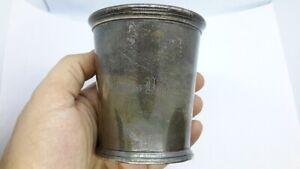 Peter L. Krider John B. Akin Coin Silver Mint Julep Cup. Mono