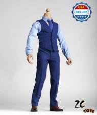 1/6 BVS Dawn of Justice Batman Ben Affleck Blue Shirt Vest Suit fit ZC MUSCULAR