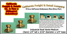 Industrial Roof Vents-Medium (3pcs) N/Nn3/1:160-Scale California Freight & Co