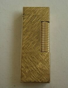 Dunhill . Rollagas Lighter . Gold Plated Dunhill Lighter