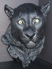 "NIGHT VISION  Large Hanging Panther Head  Statue Figurine  H16"" x D7.5"" x W11"""