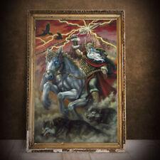 Odin Painting Woden Print Norse Nordic Viking Fantasy Art Print Sleipnir Large