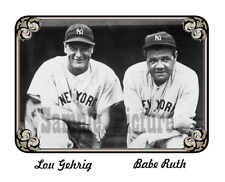 "Babe Ruth Lou Gehrig Reproduction Picture Photo One Each 8"" X 10"" + 5"" x 7"""