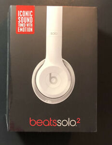 Beats by Dr Dre Solo 2 Wired On-Ear Headphone [ Gloss White Edition ] NEW