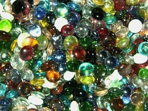 150g Glass Pebbles / Stones - Various Shapes and Colours (Offer 4 for 3)