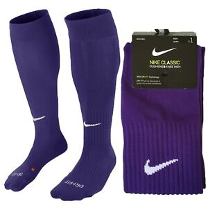 Nike Classic Cushioned Knee High Over The Calf Soccer Socks Purple SX5728-545 2