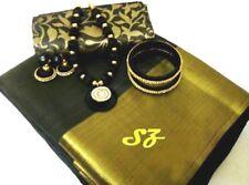 100% PURE TUSSER Silk Saree With Nice Necklace Set