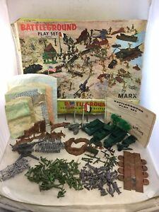 Vintage Marx Battleground Playset No. 4756 With Box