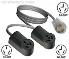 10-30P Y ADAPTER 10-30R 3PIN DRYER & 10-50R OVEN RANGE STOVE RECEPTACLE SPLITTER