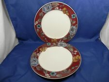 Set of 2 Dinner Plates ROMANTIC FLEUR CAC 54 by Mikasa Intaglio