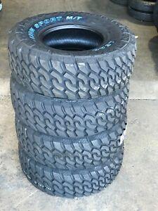 4 x 35X12.50R18 Lionsport MT Mud Terrain Tires 10-Ply White Letters LT 12.5R18