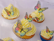 Edible Rainbow Butterfly Cupcake Topper 20pc Easter Mardi Gras Pride Birthday