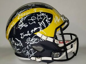 Michigan Wolverines 2018 Team Autographed Full Size Riddell Helmet W/COA