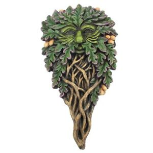 "Tree Spirits ""All Seeing Oak"" 28 cm Green Man Wall Plaque"