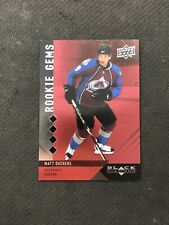2009-10 UD BLACK DIAMOND MATT DUCHENE ROOKIE GEMS QUAD RUBY RED #ed 87/100