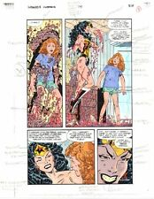 Original 1996 Wonder Woman 114 DC Comics color guide art page 8:Byrne/1990's/JLA