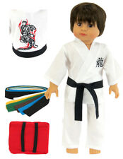 "Karate Outfit made for 18"" American Girl or Boy Logan Doll Clothes DETAILED!"