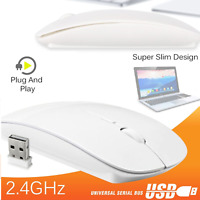 Slim 2.4 GHz USB Optical Wireless Cordless Scroll Mouse for PC Laptop Mac iMac