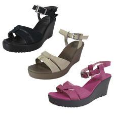 Crocs Womens Leigh Sandal Wedge Heel Shoes