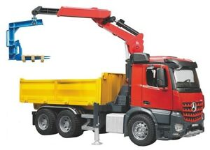 Bruder MB Arocs Construction Toy Truck with Crane & Accessories 03651 NEW