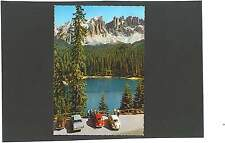 AK Dolomiten Dolomiti Karersee Lago di Carezza Latemar VW Käfer Opel Fiat 500